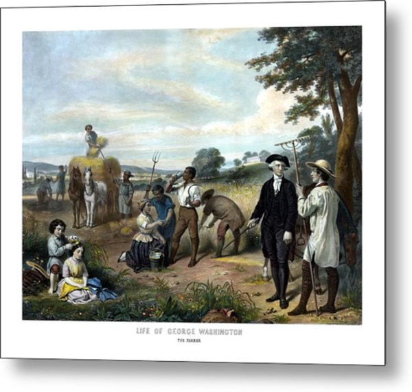 George Washington The Farmer Metal Print