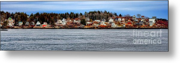 Georgetown Island Bay Point In Maine Metal Print