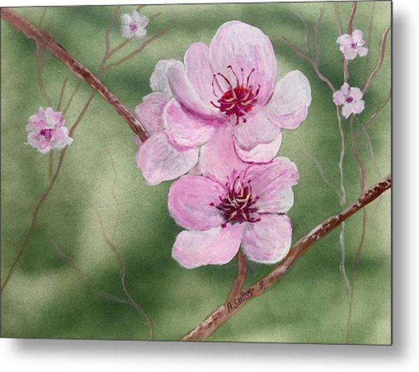 Georgia Peach Blossoms Metal Print