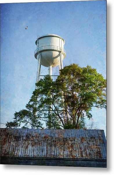 Metal Print featuring the photograph Georgia Water Tower by Whitney Leigh Carlson