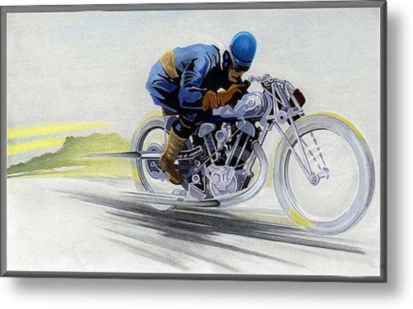 Geo's Bike Metal Print by Lyle Brown