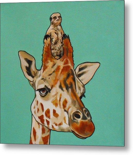 Gerald The Giraffe Metal Print