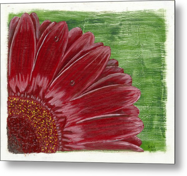 Gerber Daisy- Red Metal Print