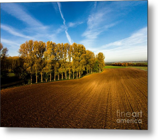 Fields From Above Metal Print