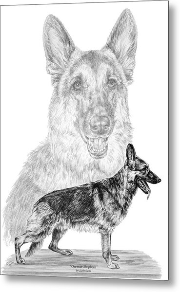 German Shepherd Dogs Print Metal Print
