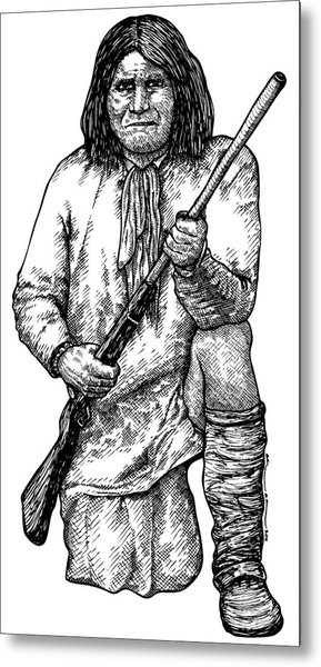 Geronimo Metal Print by Karl Addison