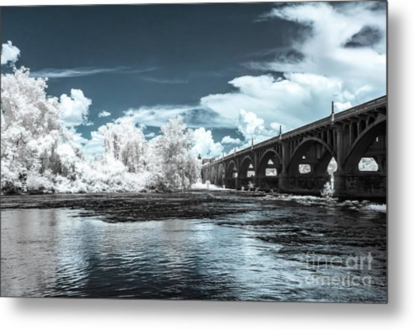 Gervais St. Bridge-infrared Metal Print
