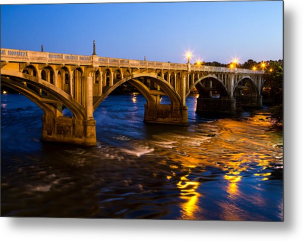 Gervais Street Bridge At Twilight Metal Print