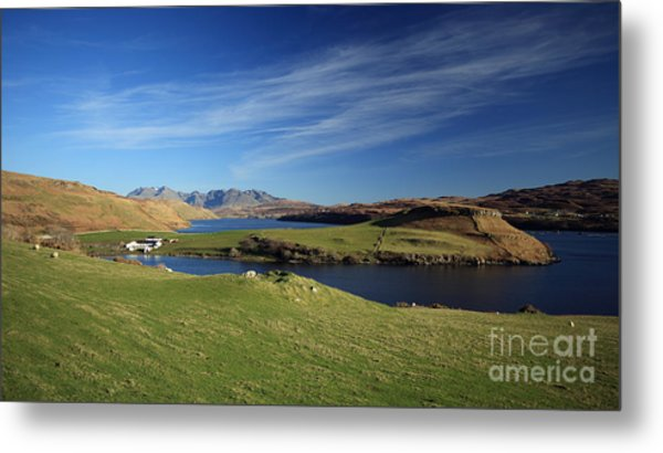 Gesto Bay And The Cuillins Metal Print by Maria Gaellman
