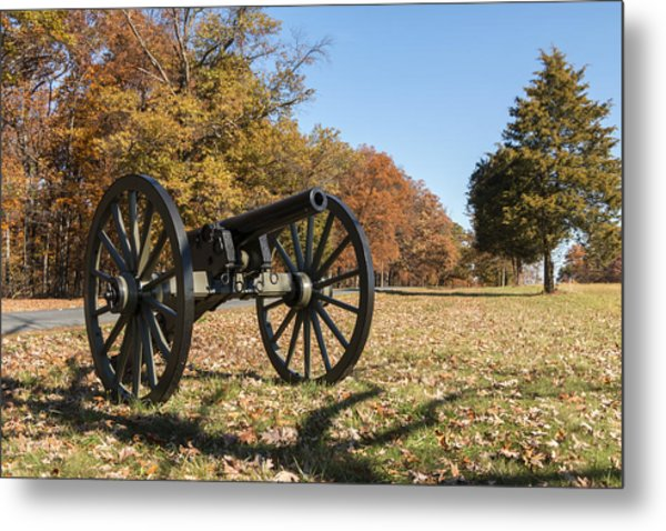 Gettysburg - Cannon In East Cavalry Battlefield Metal Print