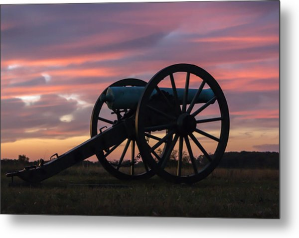 Gettysburg - Cannon On Cemetery Ridge At First Light Metal Print