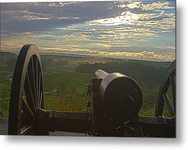 Gettysburg Canon Metal Print
