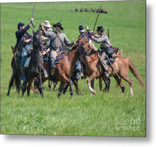 Gettysburg Cavalry Battle 7948c  Metal Print