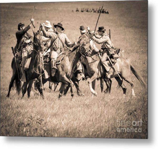 Gettysburg Cavalry Battle 7948s  Metal Print
