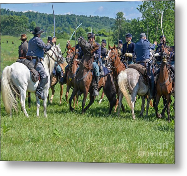Gettysburg Cavalry Battle 7970c  Metal Print