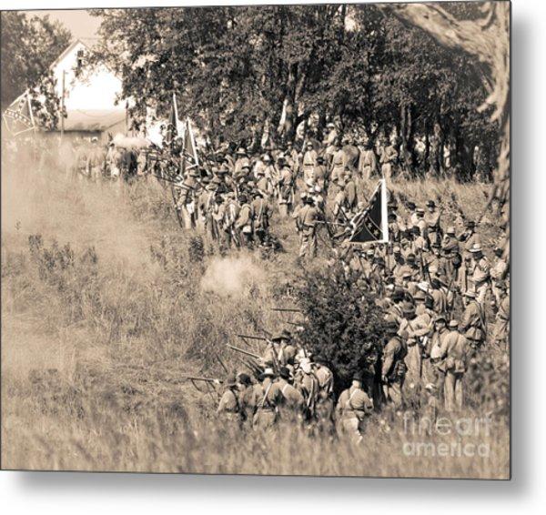 Gettysburg Confederate Infantry 8825s Metal Print