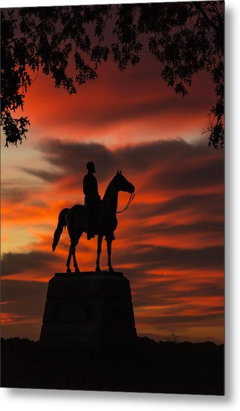 Gettysburg - Gen. Meade At First Light Metal Print