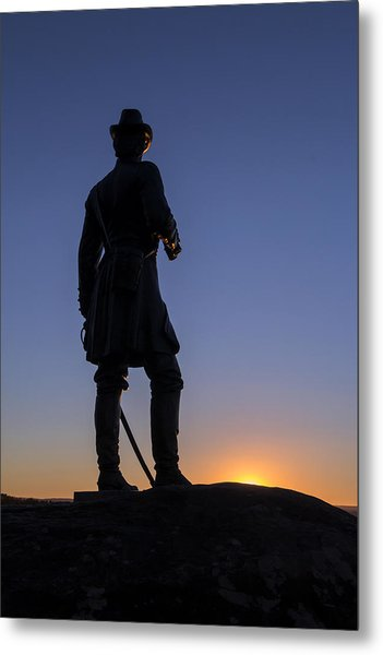 Gettysburg - Gen. Warren At Sunset Metal Print