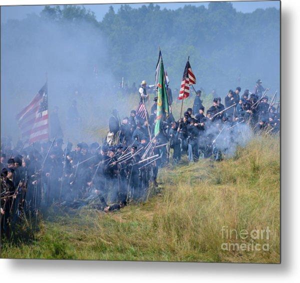 Gettysburg Union Infantry 8947c Metal Print