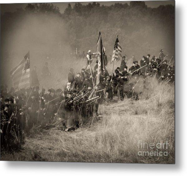 Gettysburg Union Infantry 8947s Metal Print