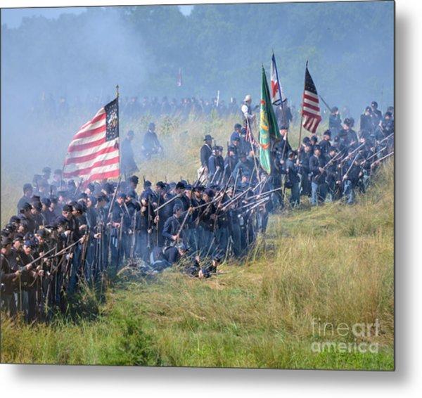 Gettysburg Union Infantry 8948c Metal Print