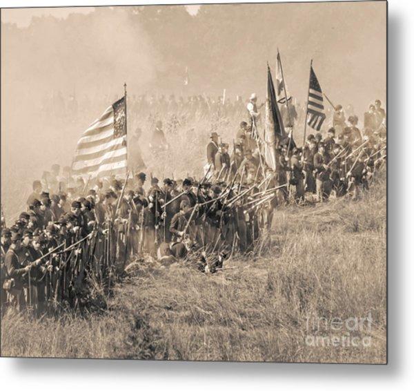 Gettysburg Union Infantry 8948s Metal Print