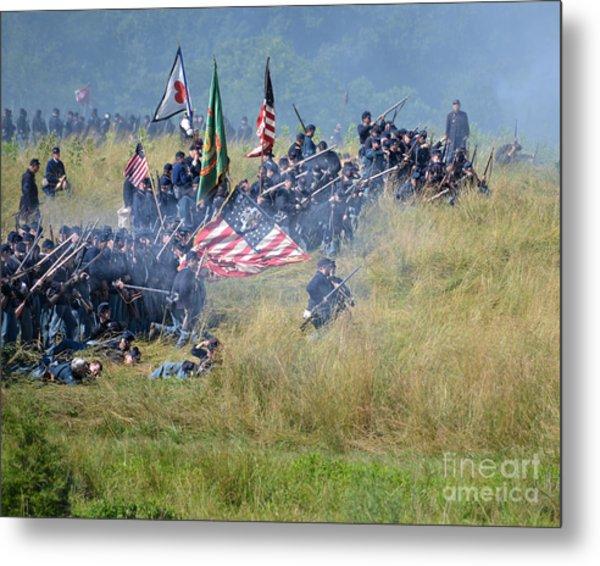 Gettysburg Union Infantry 8963c Metal Print
