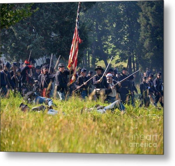 Gettysburg Union Infantry 9348c Metal Print