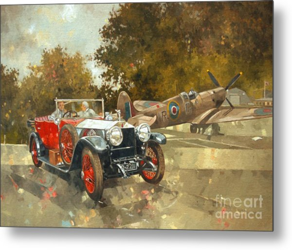Ghost And Spitfire  Metal Print