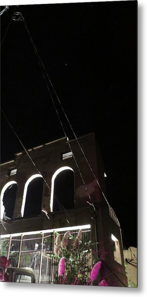 Ghost Building Of Jerome Metal Print
