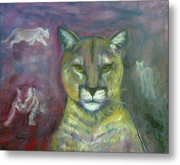 Ghost Cat Metal Print by Darla Joy  Johnson