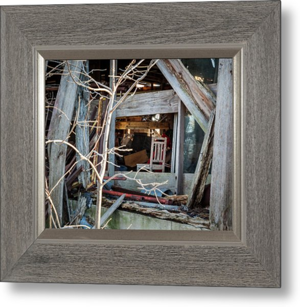 Metal Print featuring the photograph Ghost Chair by David Coblitz