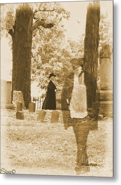 Ghost In The Graveyard Metal Print