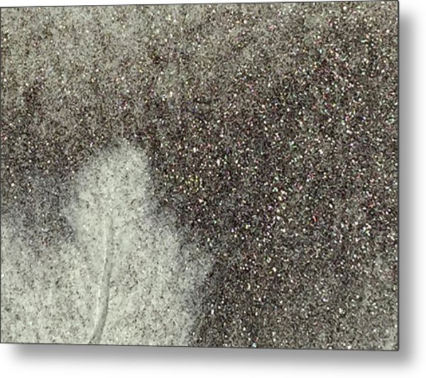 Ghost Leaf Metal Print