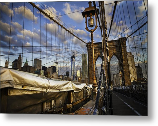 Ghost On The Bridge Metal Print