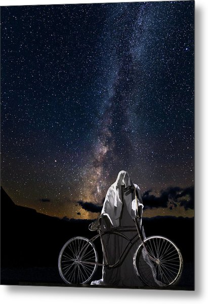 Ghost Rider Under The Milky Way. Metal Print
