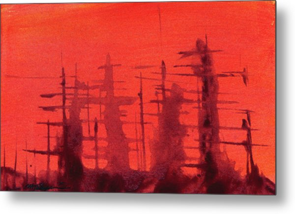 Ghost Ships Metal Print