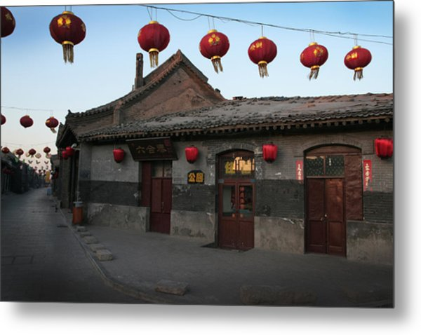 Ghost Town On The Eve The Chinese New Year Metal Print