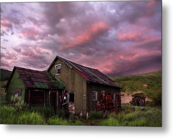Ghost Town Sunset 1 Metal Print