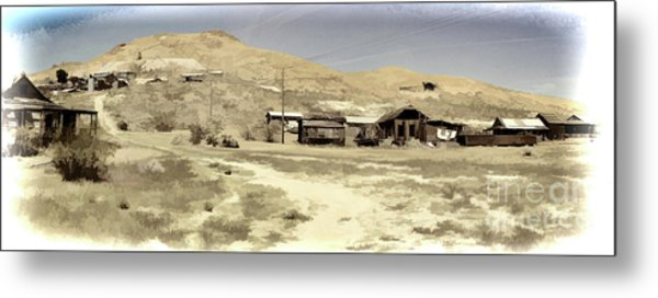 Ghost Town Textured Metal Print