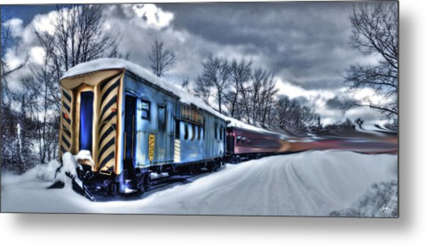 Ghost Train In An Existential Storm Metal Print