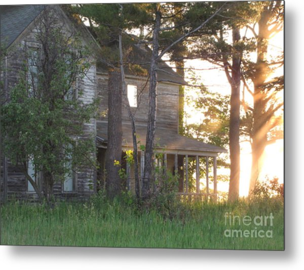Ghostly Light Metal Print