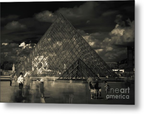 Ghosts Of The Louvre Metal Print