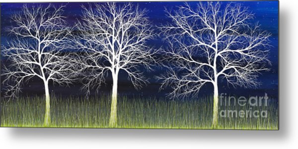 Ghosts Whispering In The Field Metal Print