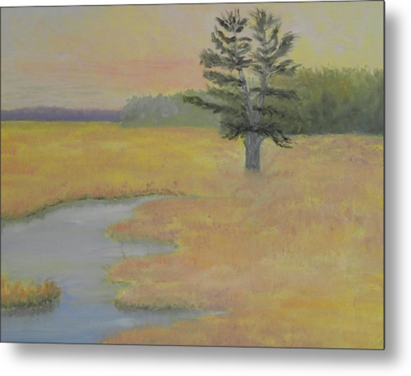 Giant In The Marsh Metal Print