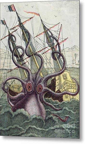 Giant Octopus Metal Print