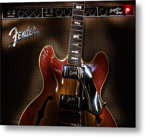 Gibson 335 Metal Print