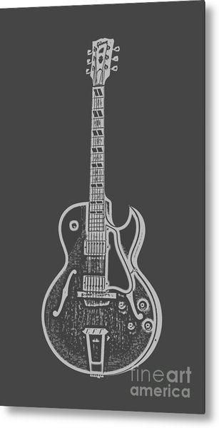 Gibson Es-175 Electric Guitar Tee Metal Print