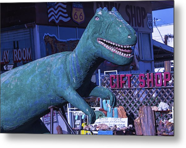 Gift Shop Dinosaur Route 66 Metal Print