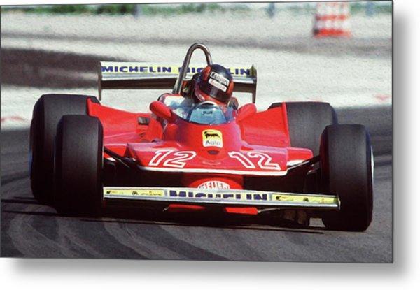 Gilles Villeneuve, Ferrari Legend - 01 Metal Print